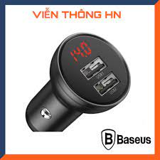 Giá bán Tẩu sạc xe hơi 2 cổng sạc usb Baseus 4.8A 24W - củ sac cốc sạc  nhanh ô tô - vienthognhn