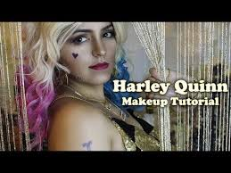 harley quinn squad night club scene makeup tutorial