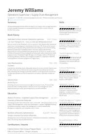 fox school of business resume template operations supervisor resume samples  visualcv resume samples