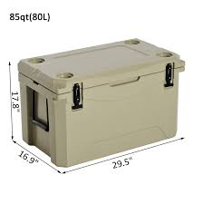 roto molded cooler. outsunny 85 quart heavy duty roto-molded cooler / ice box roto molded l