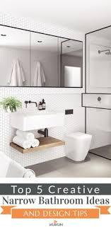 bathroom remodel design ideas.  Bathroom Top 5 Creative Narrow Bathroom Ideas And Design Tips Intended Remodel