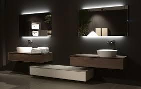 bathroom lighting modern. Lighting Modern Backlit Bathroom Mirrors Contemporary Simple Design Black Backlighting Lamp Light Ceramics Cabinet O