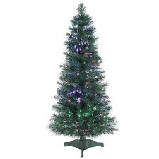 Sterling 4 Ft PreLit Fiber Optic Artificial Christmas Tree With Black Fiber Optic Christmas Tree