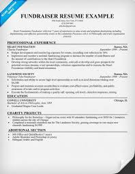 Fundraiser Resume | Resume Samples Across All Industries | Pinterest |  Fundraising, Fundraising ideas and Resume examples