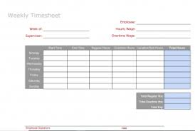 Timesheet Word 6 Free Timesheet Templates You Really Need