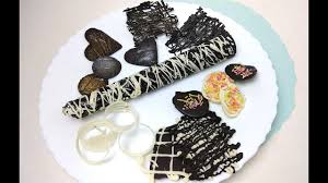 Chocolate Garnishes For Desserts Chocolate Decorations Diy Youtube