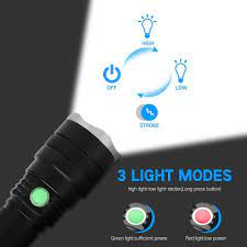 Đèn Pin 6000 Lumen, Pin Sạc Cổng USB Siêu Sáng, Có Thể Thu Phóng 3 Chế độ  Sáng, Đèn Cầm Tay Tiện Lợi Dùng Cắm Trại