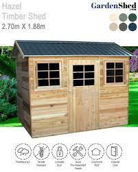 hazel timber shed 2 70m x 1 88m cedar
