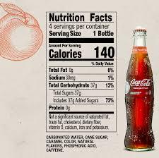 Coca Cola Nutrition Chart Coca Cola Local Flavors