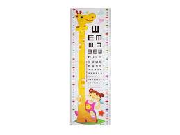 Growth Chart Design Sexy Sparkles Height Measurement Growth Chart Wall Sticker Dcor Giraffe Design 170cm