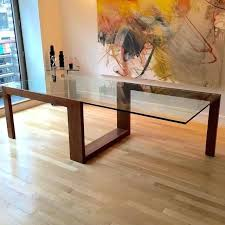 wood and glass table beautiful wooden dining table with glass top best ideas about glass top dining table on rustic round glass table wood base