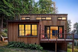 Unique Modern Cabin Plans With Sloping Roof Design For Eco