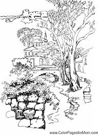 Small Picture landscape coloring page 37 Masal evleri Pinterest