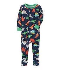 sleepwear boys sizes baby kids bon ton carter s boys 12m 18m one piece multi dinosaur print cotton pajamas