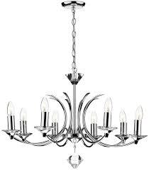dar medusa modern 8 light dual mount chandelier chrome