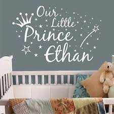 image is loading personalised wall art sticker quote our little prince  on personalised wall art stickers quotes with personalised wall art sticker quote our little prince baby nursery