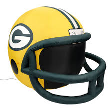 nfl green bay packers team inflatable lawn helmet one size yellow walmart