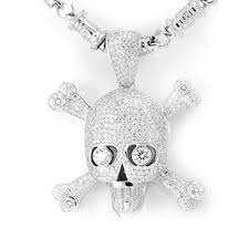 womens white gold necklace custom hip hop chains bling pendants
