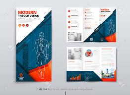 Tri Fold Brochure Design Blue Orange Dl Corporate Business