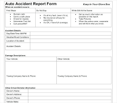 Accident Settlement Agreement Template Vehicle Incident Report Car