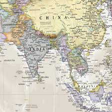 canvas classic map of the world by maps international