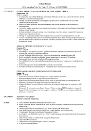 Medical Device Resume Examples Medical Devices Resume Samples Velvet Jobs 20