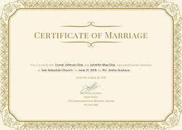 Wedding Certificate Template Simple Wedding Certificate Template Lcysne