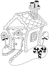 Printable Christmas Coloring Page Gingerbread House Free Printable