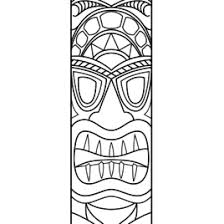 Small Picture Coloring Pages Tiki Masks Kids Drawing And Coloring Pages Marisa