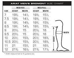 Ariat Bromont Size Charts Unicorn Saddlery