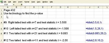 How To Find A P Value With Excel Microsoft Office