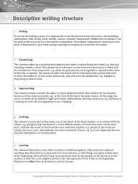 cie igcse english language descriptive writing
