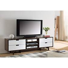 white and brown tv stand. Benzara Dual Tone TV Stand With Cutout Handle Drawers One Brown White To And Tv