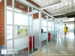 consecutive glass office partitions