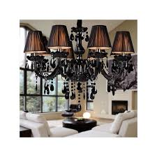 great modern black chandelier black crystal chandelier with 8 lights
