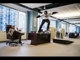 red bull office. skateboarders take over a chicago office space - red bull daily grind