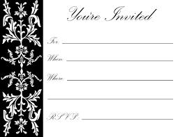 Print Out Birthday Invitations Printable Birthday Invitation Cards Black And White rudycobynet 70