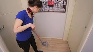 office floors. Girl Is Cleaning Office Floors Pack 3 - Stock Video