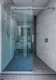 frameless glass sliding shower door alcove shower