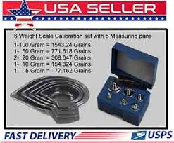 Grain Weight Conversion Chart Details About 6 Weight Reloading Scale Calibration Kit With Case And 5 Pc Set Measuring Pans