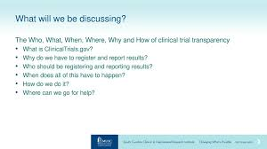 Musc Doctors Note Clinicaltrial Gov Registration Results Requirements Ppt