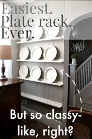 by far the easiest way to diy a plate rack it s like storage and