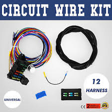 universal wire 12 circuit hot rod wiring harness for chevy mopar 12 Circuit Wiring Harness 12 circuit universal wire harness muscle car hot rod street rod new xl wires