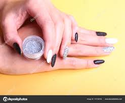 černá Bílé Manikúru Nail Art Dovolená Ve Stylu Světlé Manikúra S