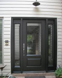 Fiberglass entry door phenomenal 3 4 lite novara gbg with sidelites ...