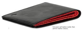 full grain calf leather wallet