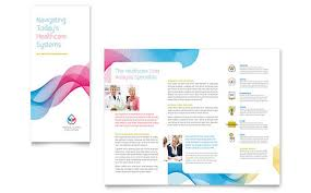 brochure microsoft word medical health care tri fold brochure templates word publisher