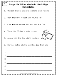 German Easy Reader Die kleine rote Henne | Sentence structure ...