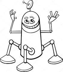Libro Di Robot Dei Cartoni Animati Da Colorare Vettoriali Stock