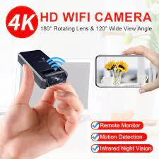 JOZUZE 4K Camera Mini WiFi Không Dây Thông Minh Camera IP Kích Nhìn HD  Video Micro Nhỏ Cam Phát Hiện Chuyển Động Mini Camcorders